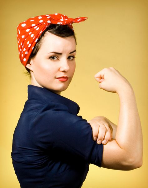 Rosie the Riveter. #Feminist power.