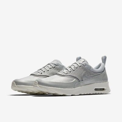 Nike Shoes | New Air Max Thea Platinum Leather Sneakers