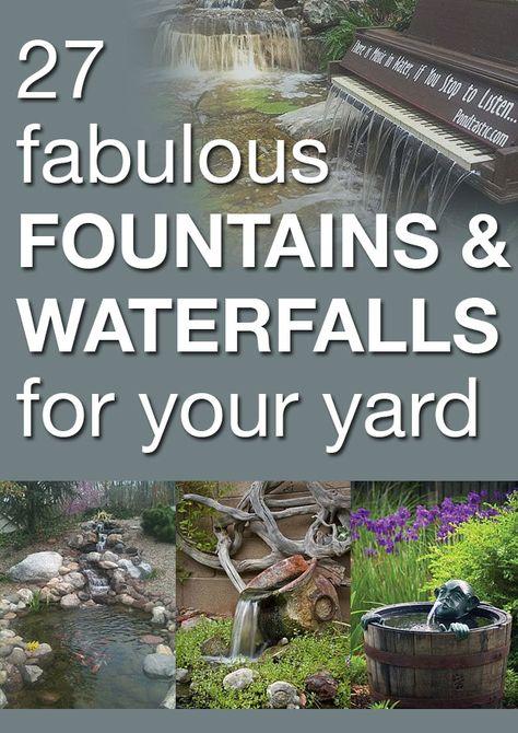 Fountains, Waterfalls, Ponds, Water Gardens Idea Box by TJ Around