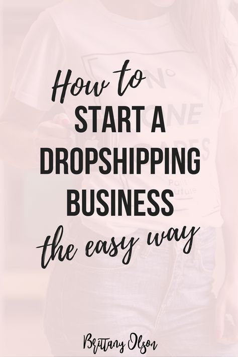 How To Start an online shop with dropshipping