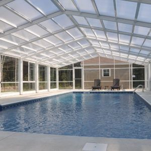 Retractable Residential Pool Enclosure Scarborough Me Pool Enclosures Roofing Systems House Styles