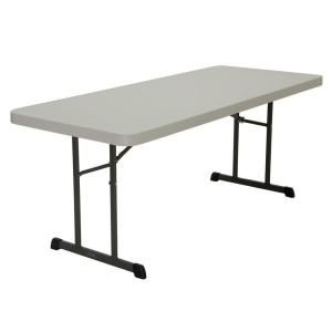 Lifetime 72 In Almond Plastic Portable Folding Card Table 80454