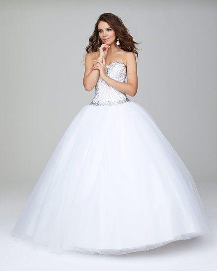 Vestidos de 15 blancos y sencillos