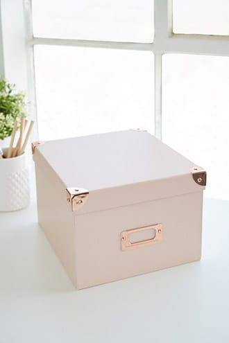 Rectangle Storage Box | Cute storage boxes, Decor, Pink ...