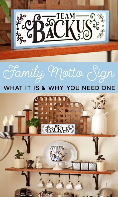 DIY Family Motto Sign: What It Is  Why You Should Have One | Where The Smiles Have Been #family #familymotto #home #homedecor #sign #DIY #personalized #vinyl #Silhouette #Cricut