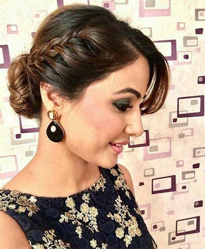 Hairstyles For Sarees Modische Frisuren Indische Frisuren Frisuren