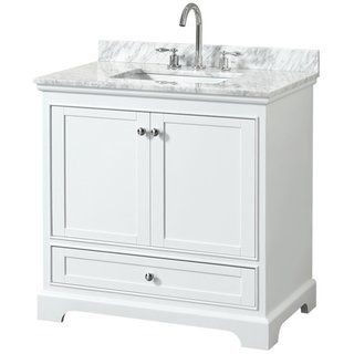 Wyndham Collection 36 Single Bathroom Vanity In White No
