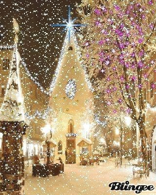 Church with Christmas lights snowing christmasscenes #christmasmood #merrychristmas #christmasblessings #christmasgreetings #vintagechristmasimages #c : Church with Christmas lights snowing christmasscenes #christmasmood #merrychristmas #christmasblessings #christmasgreetings #vintagechristmasimages #christmaspictures #hangingchristmaslights #christmasdecorations #Church #with #Christmas