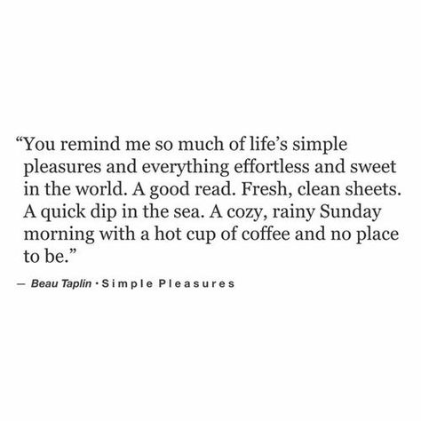 Beau Taplin | Simple Pleasures