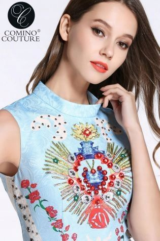 Comino Couture Kombinezon Niebieski Kwiaty 40 L 12 7897857277 Oficjalne Archiwum Allegro Women Fashion Women S Top