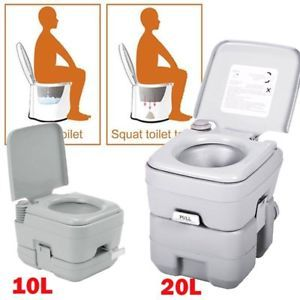 A 10l20l Camping Inodoro Para Senderismo Wc Movil Retrete Portatil