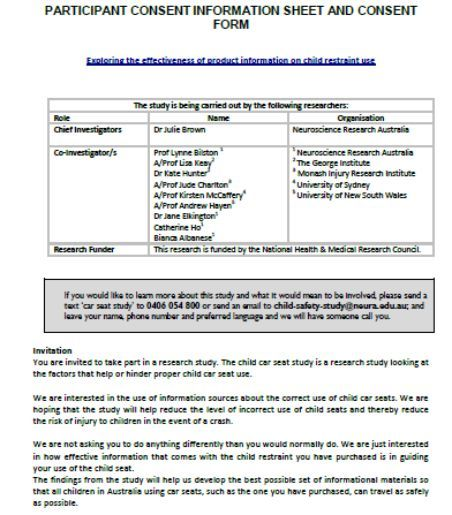 Participant Information Sheet 15 Templates Free To Download And