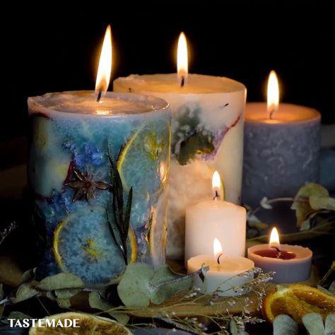 How to make beautiful & creative candles, like a pro.