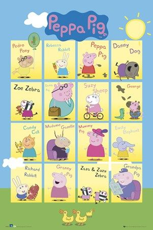 Peppa Pig Cast : peppa, Peppa, Family