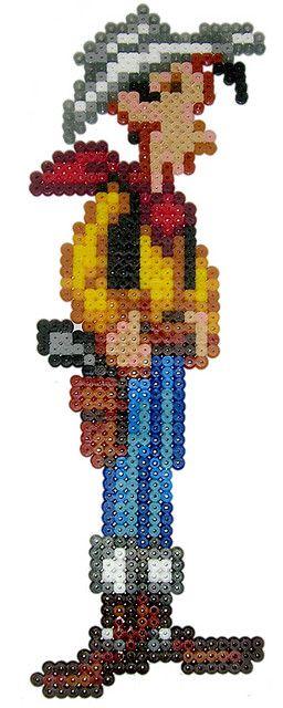 sandylandya@outlook.es  Lucky Luke /  Perler Beads - Hama perlen - Bügelperlen
