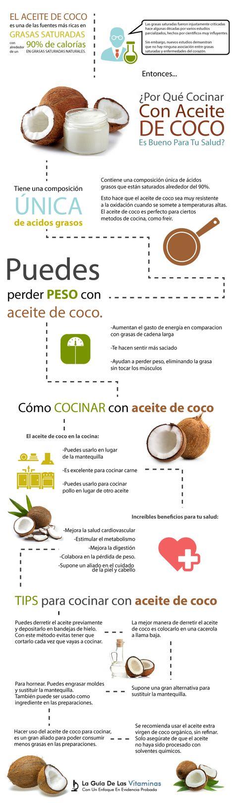 Aceite de coco es bueno para bajar de peso