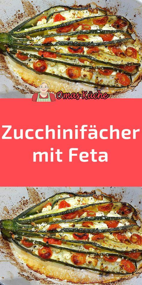 Zucchinifcher mit Feta