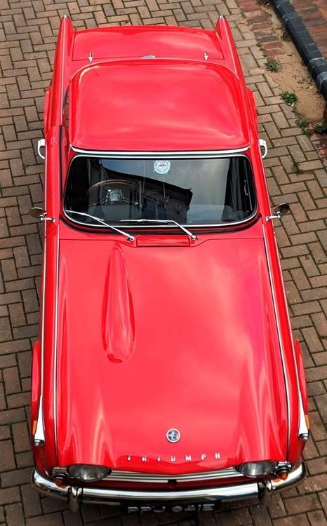 Triumph TR4A Surrey Top hard top in signal red   Cars   Cars