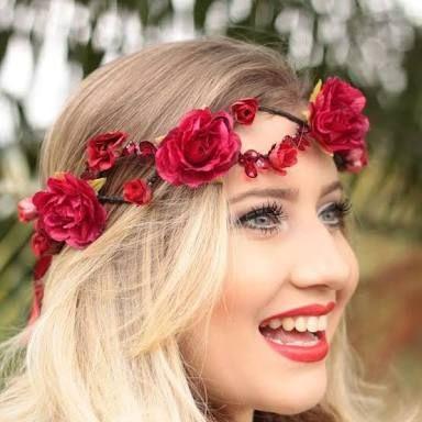 Women Flower Girl Wedding Boho Seed Berry Hair band Headband Garland Wreath Hoop