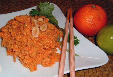 Тайский морковный салат с арахисом