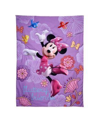 Disney Minnie Mouse Fluttery Friends 4 Piece Toddler Bed Set