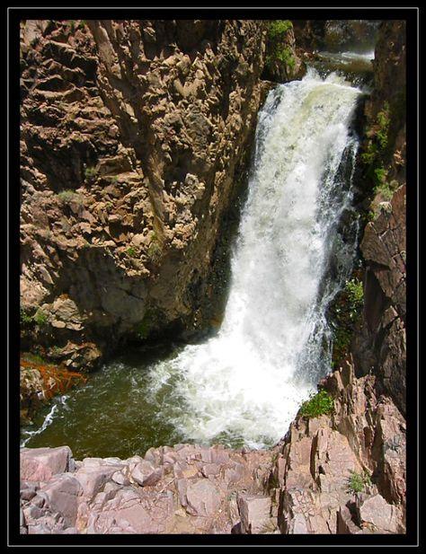Nambe Falls on Nambe Reservation, north of Santa Fe, New Mexico