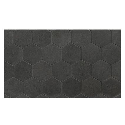 Complete Tile Collection Deep Basalt Hexagon Honey 2 1 4 Micro Joint Mosaic Using Black Grout Hexagontile Naturalstone I Mosaic Basalt Mosaic Patterns