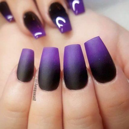 Oh My Look At Tgise Nails Purple Ombre Nails French Nail Designs Simple Nails