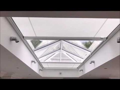 Have You Got A Huge Roof Lantern Or Skylight And Want A Blind With No Visible Guide Wires Then Take A Look At This Roof Lantern Skylight Blinds Skylight Design