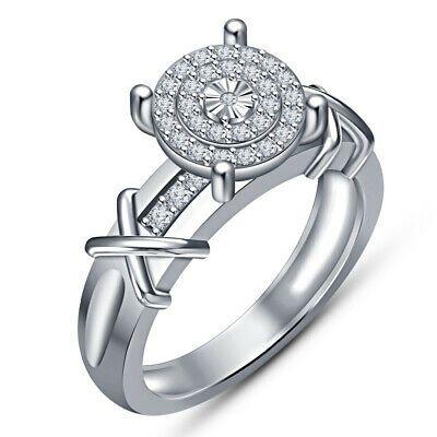 Ebay Ad Halo Round Diamond 1 50 Ctwt Engagement Ring 10k White