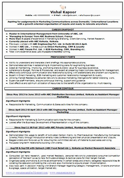 Market Research Analyst Resume New Resume Sample For Marketing Market Research 1 Career In 2020 Sample Resume Templates Cv Resume Sample Marketing Resume