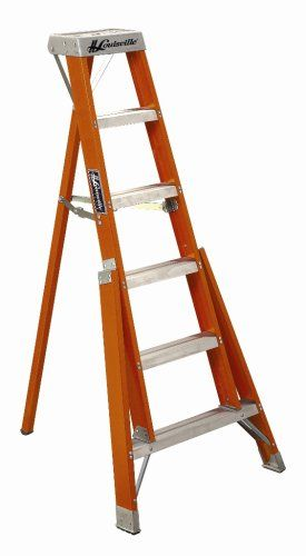 Louisville Ladder Ft1004 300 Pound Duty Rating Fiberglass Tripod Ladder 4 Foot Review Best Ladder Ladder Small Step Ladders