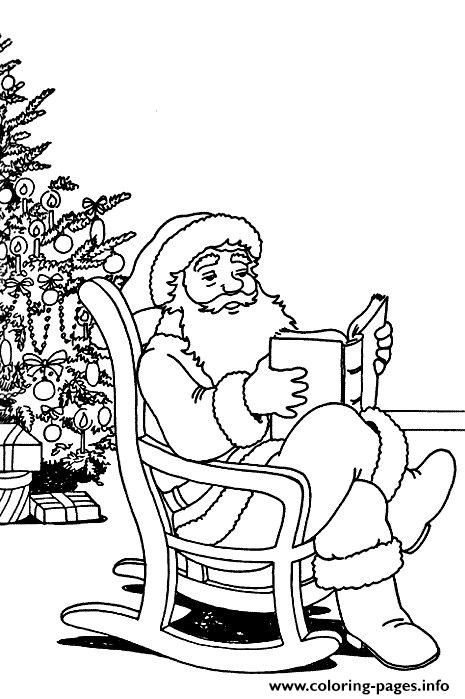 Print Christmas Santa Claus With Tree 82 Coloring Pages