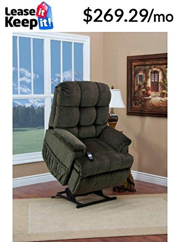 Med Lift 5555 Full Sleeper Lift Chair Cabo Sage Fabric Chair Foot Rest Recliner