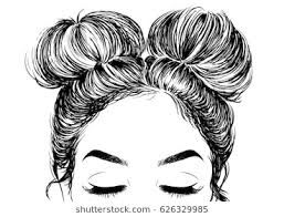 Image Result For Things To Draw Hair Space Buns How To Draw Hair Hair Sketch Drawings