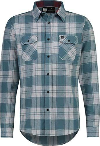 Jolt Gear Flannel Shirt for Men Dry Fit Long Sleeve Button Down Moisture Wic