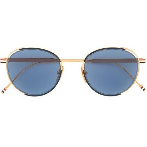 53d8311bf2b Thom Browne Eyewear signature stripes round sunglasses ( 1