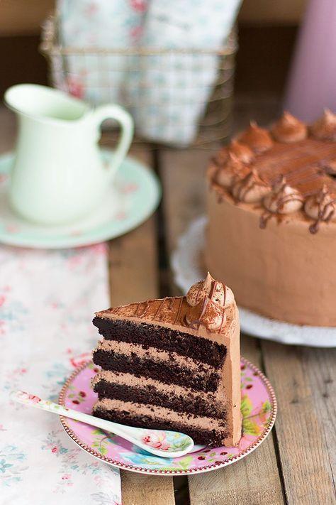 Tarta De Nutella Y Chocolate La Mejor Tarta Del Mundo Tartas Pastel De Nutella Mejor Tarta De Chocolate