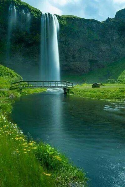 Seljalandsfoss Falls, Iceland.