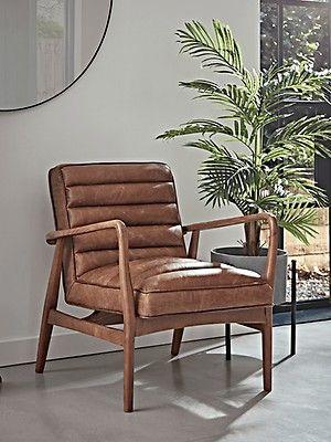 Ribbed Leather Armchair Tan Armchair London Living Room Snug Room