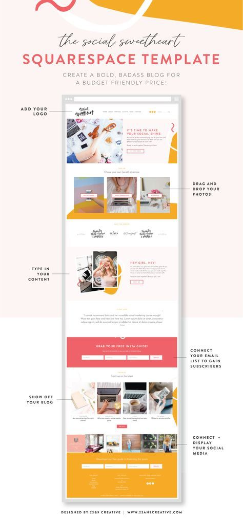 Content Social Manager Website Template Squarespace Website Templates Website Template Website Template Design Social media web templates