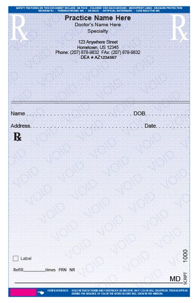 Secure Printed Prescription Pads  ChichitravelsCom