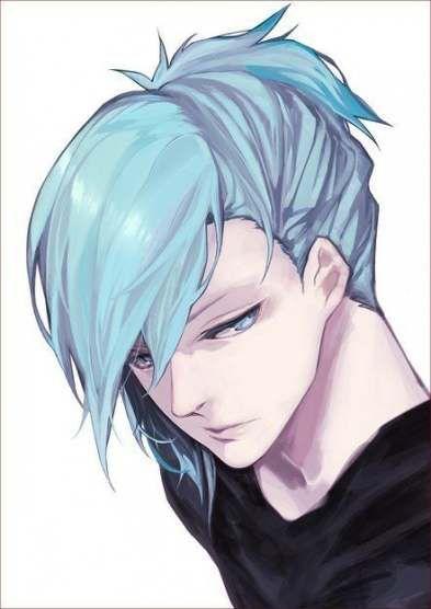 64 Ideas Hair Blue Anime Eyes Blue Anime Blue Hair Anime Boy