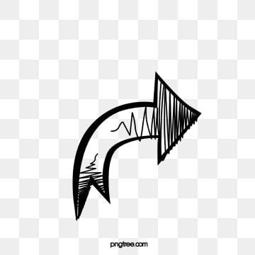 Black Line Drawing Hand Drawn Arrow Arrow Clipart Lovely Guide Png And Vector With Transparent Background For Free Download Hand Drawn Arrows How To Draw Hands Arrow Clipart