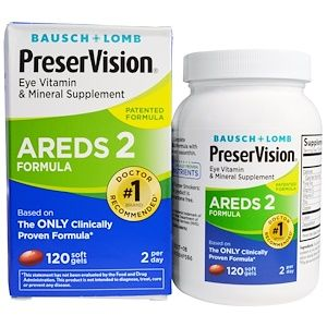 Bausch Lomb Preservision Areds 2 Formula Eye Vitamin Mineral Supplement 120 Soft Gels Iherb Com Eye Vitamins Vitamin Supplements Vitamins