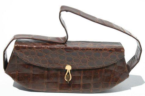 Gorgeous Vintage 50's DEITSCH Alligator Crocodile Purse Handbag & Coin Purse