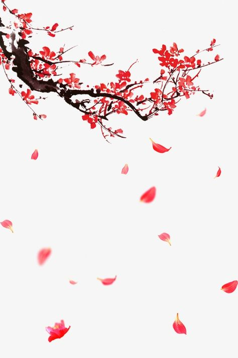 plum flower,red,branches,petal,floating creatives,plum,flower,floating,creatives