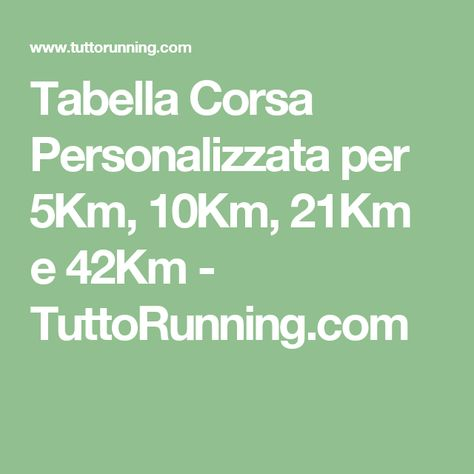 allenamento per la perdita di peso e la maratona