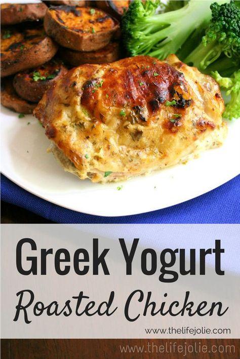 Greek Yogurt Roasted Chicken