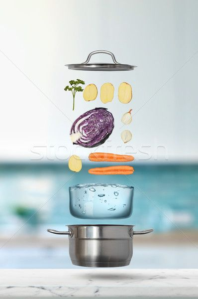 Fresh Vegetables Falling Into Stainless Steel Pot Stock Photo C Artjazz 8393557 Stockfresh Fresh Vegetables Beautiful Food Photography Diabetes Remedies
